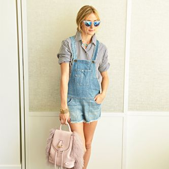 Day 6:  Westward Leaning sunglasses, SIWY overalls, Max Mara Weekend shirt, Dior shoes, Meli Melo bag, and vintage jewelry #30Looks30Days