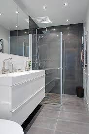 modern grey white bathroom - Google Search