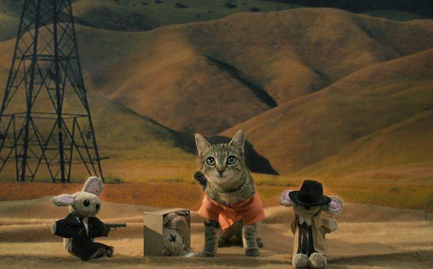 'Keanu' Cat Calendar Reimagines 12 Beloved Movies with One Adorable Kitten | May: Keanu Starring in <em>Se7en</em> | EW.com