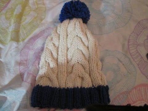 464 best Punto a dos agujas Gorros images on Pinterest | Capuchas ...