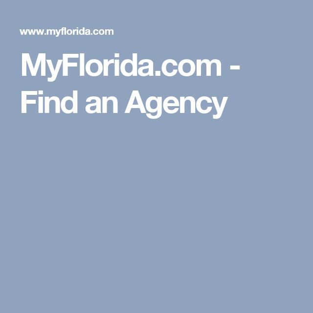 MyFlorida.com - Find an Agency