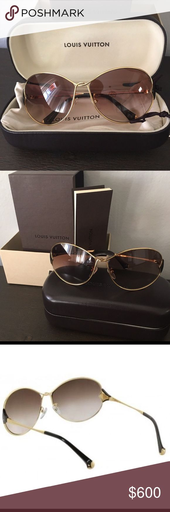 Authentic Louis Vuitton Daisy Sunglasses Z0262U Brand New ... Proof of Purchase... Very Trendy... Never go out of style😎 Pls just reasonable offers....Thank you... Happy Holidays😍 Louis Vuitton Accessories Glasses