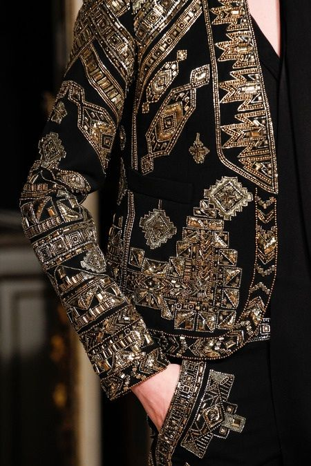 Emilio Pucci Fall 2014. Embroidery details. Matador Jacket. Nice