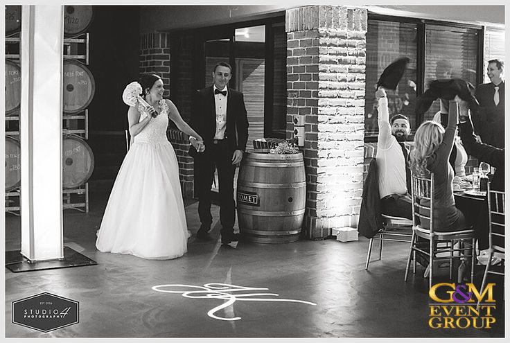Bride & Groom's Reception Entrance // A Magnifique  D R E A M  Wedding at Sirromet Winery // Wedding MC + DJ + Lighting Design #MCGlennMackay #DJBenShipway #GMEventGroup #GMDJs #GMLighting #WeddingLighting #WeddingMC #WeddingDJ #CustomMonogram