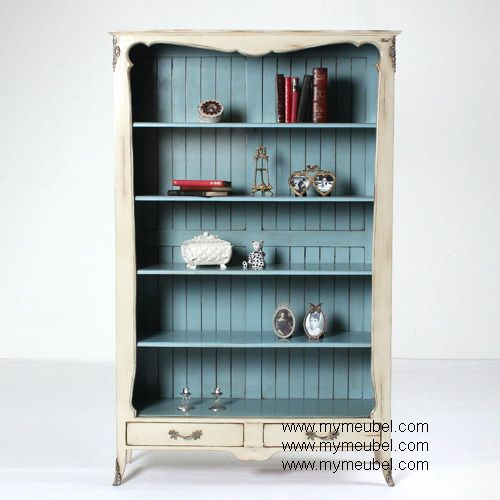 French Antique 2 Drawer Bookcase