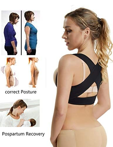 0aecdfbca8d Chest Brace Up for Women Posture Corrector Shapewear Tops Breast Support Bra  Top X Strap Bras