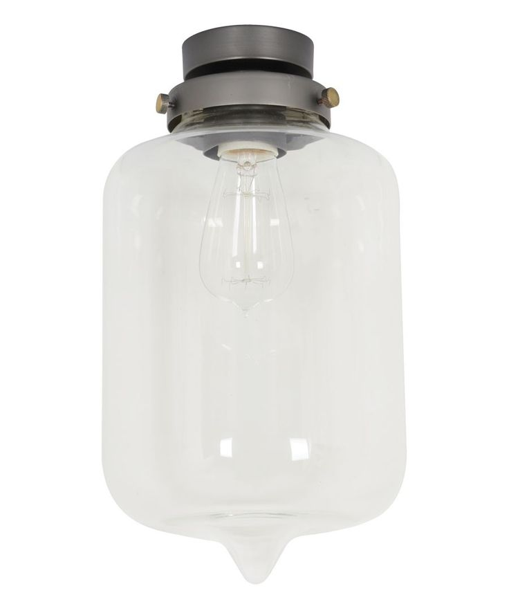 Beacon Lighting - Jensen cylinder point DIY batten fix in black with clear glass