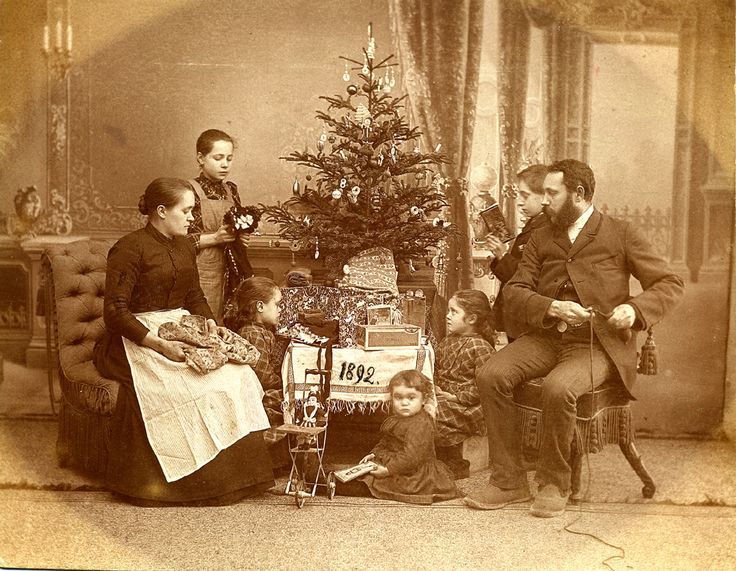 Image result for vintage family at christmas