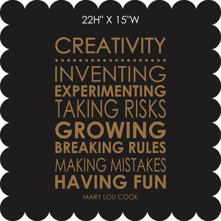 creativity: Art Designs, Hairy Humour, Wall Decal, Motivational Quotes, Inspirational Quotes, Craft Quotes, Vinyl Lettering, Creativity, Creativity Quotes3
