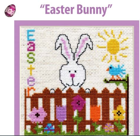 Cross Stitch Easter Bunny - Free Project