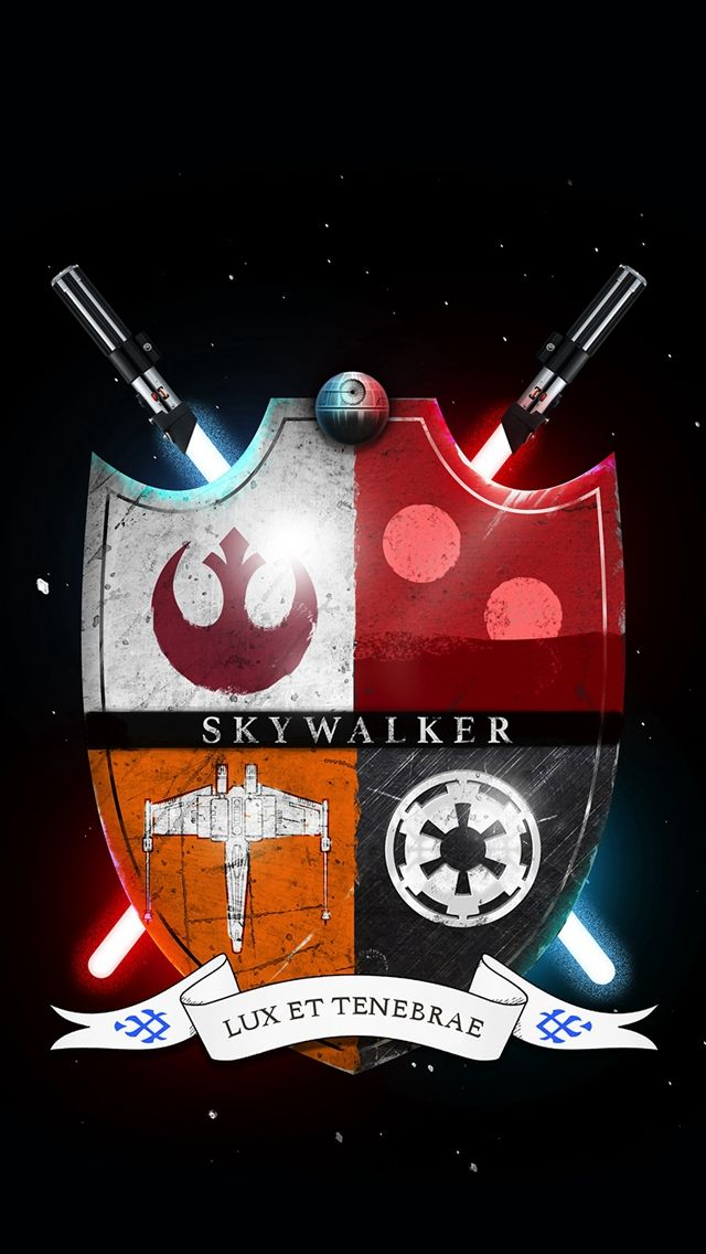 Star Wars Family Crest Skywalker Light And Darkness iPhone 5s wallpaper