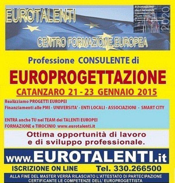 CORSO EUROPROGETTAZIONEinnovative prospettive professionali con le competenze dell' europrogettista. https://www.eurotalenti.it  LAVORA SUBITO CON I FINANZIAMENTI EUROPEI Opportunità occupazionale e di sviluppo professionale  RIPARTI CON UNA COMPETENZA INNOVATIVA  Diventa esperto EUROPROGETTISTA  https://www.eurotalenti.it  Esprimi il tuo #TALENTO realizzando #progetti europei www.eurotalenti.it Entra nel TEAM DI EURO-PROGETTISTI IN UN LAVORO CHE PREMIA I TALENTI