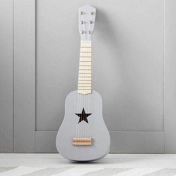 """Guitarra de Madera Natural con Estuche y Accesorios para Niños de 30 /"""""""
