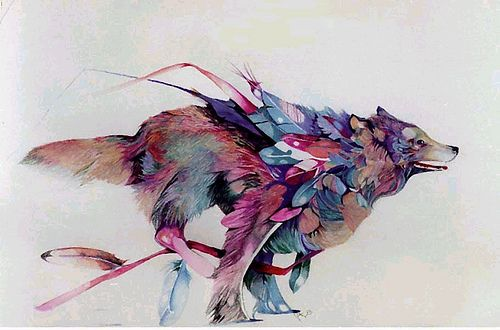 Wolf With Feathers