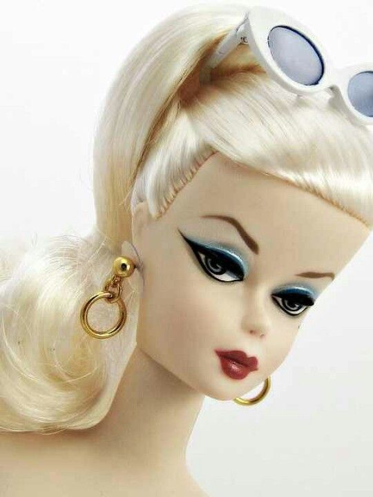 Vintage Barbie....luv the shades worn on her head