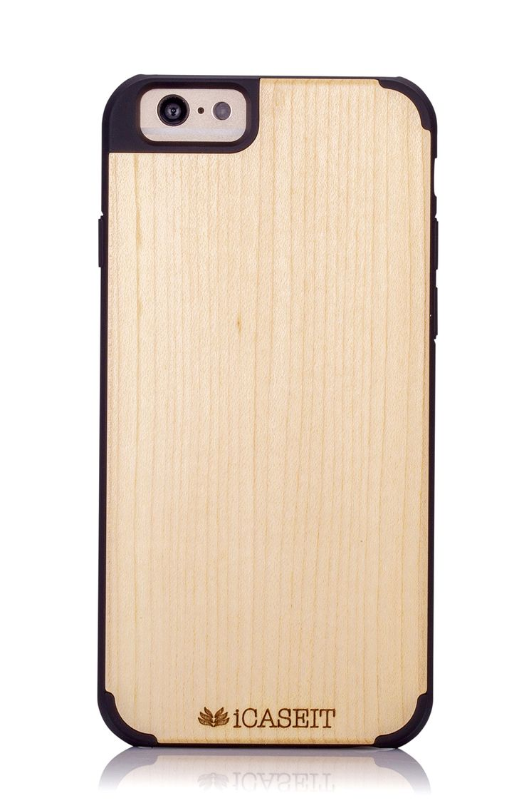 "iCASEIT Wood iPhone Case - Genuinely Natural, Unique & Premium quality for iPhone 6 (4.7"" Display) - Maple / Black: Amazon.co.uk: Electronics"