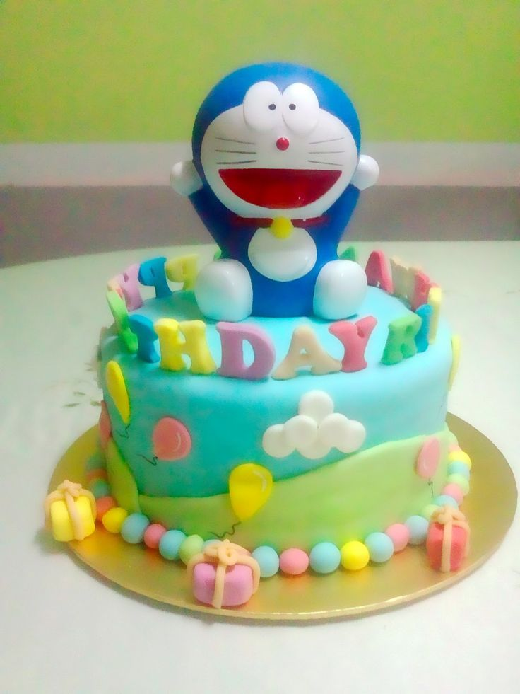 Just Desserts by Zar: Doraemon Birthday Cake!