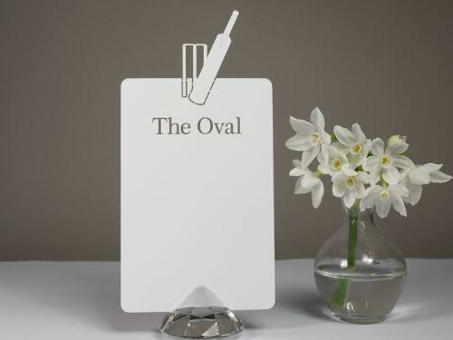 Howzat! DIY Cricket Table Seating Plan Card Blanks (9 x 13cm) - Plain or Personalised