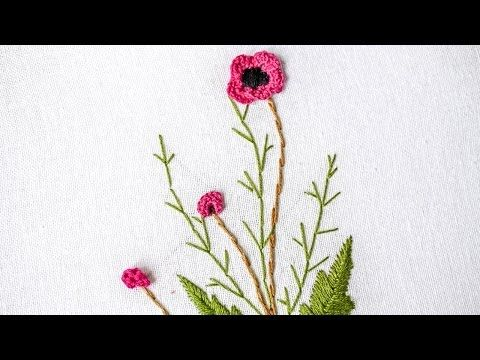 Brazilian Embroidery | Stitching Flower Design by Hand | HandiWorks #98 - YouTube
