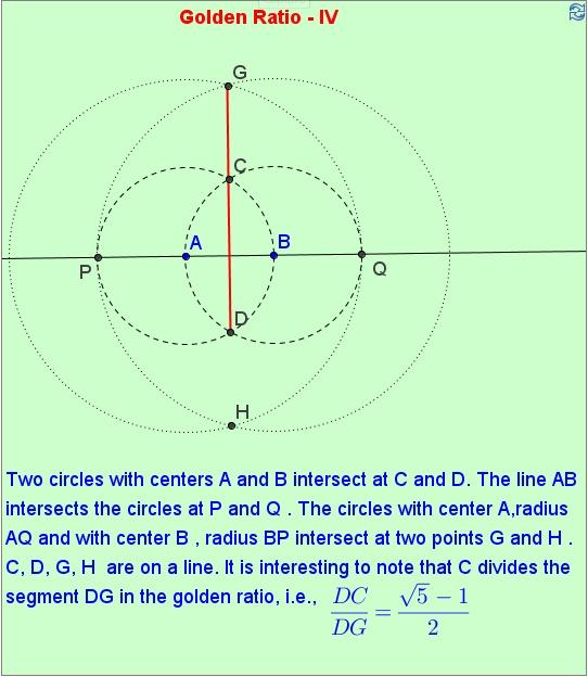 Division of a line segment into golden ratio. http://mathematicsbhilai.blogspot.in/2012/04/golden-ratio-iv.html