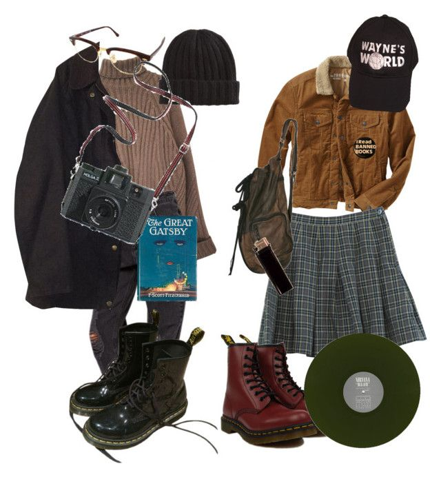 """dream"" by paigealexandrialee on Polyvore featuring Barbour, Gap, Retrò, Dr. Martens, Ray-Ban and Madewell"