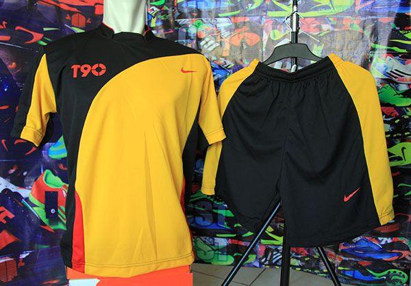 Setelan Kaos Nike T90 Hitam Kuning Rp 80.000