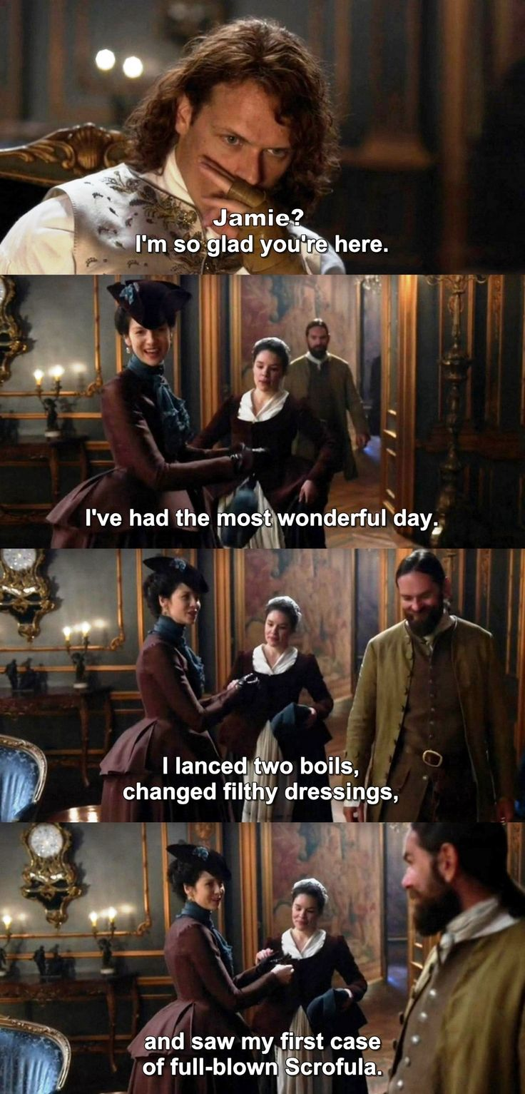 """I've had the most wonderful day"" - Claire, Murtagh, Jamie and Suzette #Outlander"