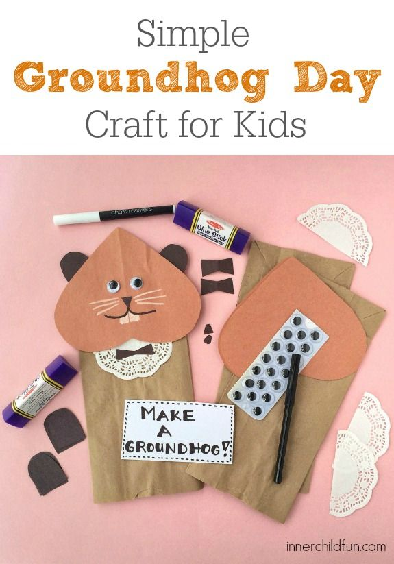 The 46 best images about groundhog day crafts for kids on for Groundhog day crafts for preschoolers