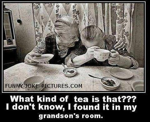 Funny Old Ladies Tea Time Picture                                                                                                                                                                                 More