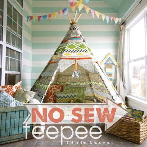 DIY::No sew Tee Pee.