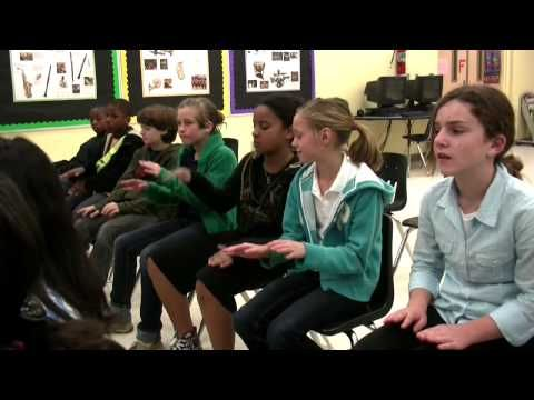 5th grade lesson- Kalimba, African song, teaching form, rhythmic patterns, students performing, improv. (Video called Fifth Grade Lesson, part 1) part 2 is easy to find when you go to the video