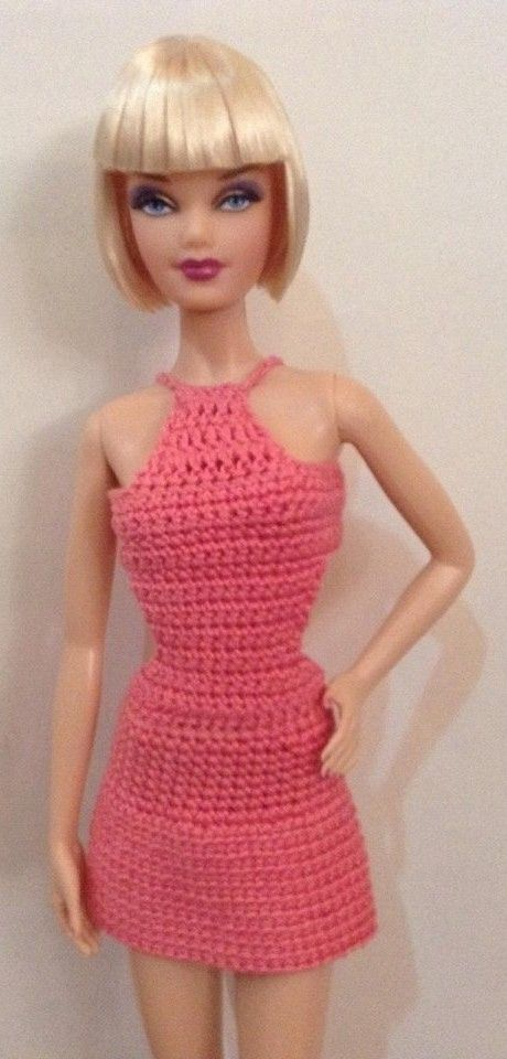 Barbie in Crochet Dress (One could add length to the skirt, etc.  Looks like a nice basic fit. bdmcd.)