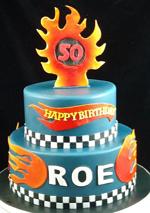Hot wheels racing birthday cake