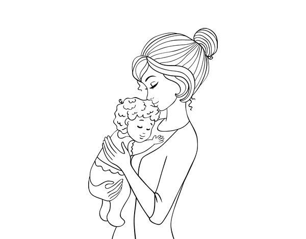 Libro Para Colorear Madre Hija Ilustraciones Vectoriales Clip: 20 Best Images About Dibujos Del Día De La Madre On