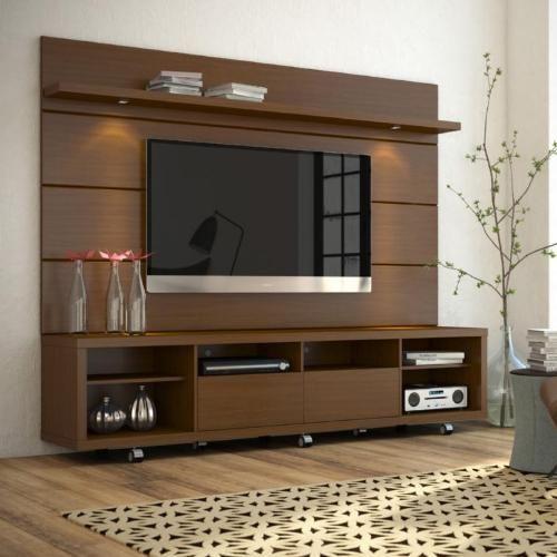 Rack Com Painel Horizon 2.2 - Castanho - - Americanas.com