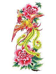 5 stuks phoenix waterproof tijdelijke tatoeage (18.5cm * 9cm)