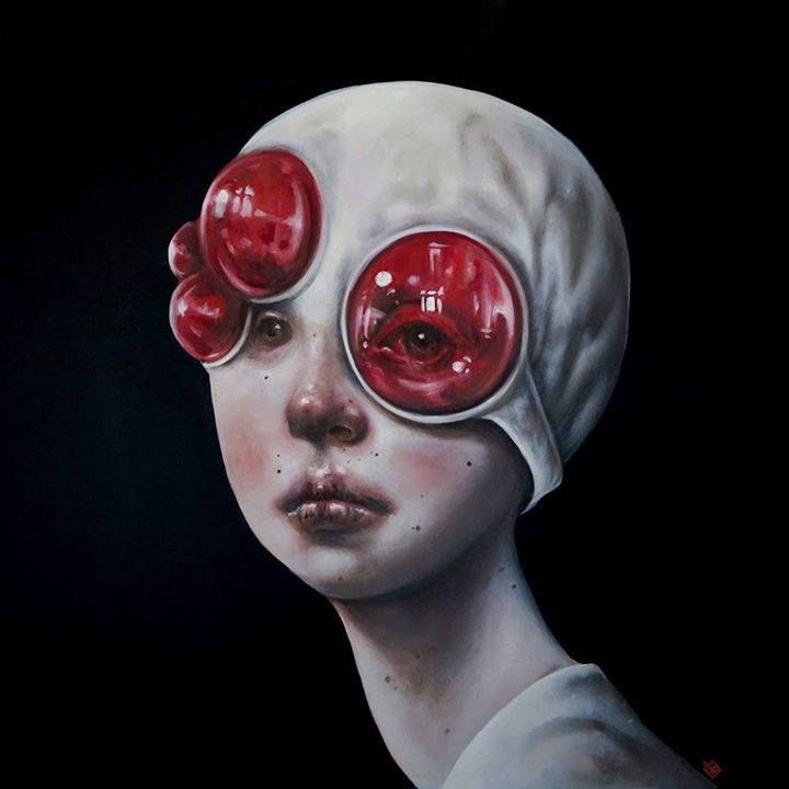 'Unseen' by Afarin Sajedi #painting #portrait