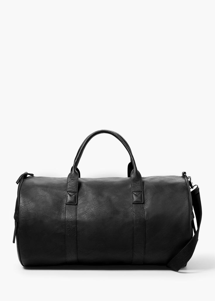 Pebbled weekend bag -  Men | MANGO