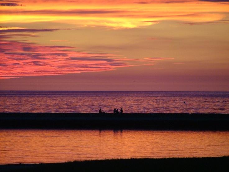 Sunset on Lake Huron, Port Elgin, Ontario, Canada.
