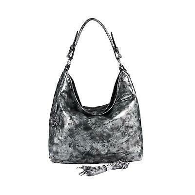 DAMEN METALLIC TASCHE SHOPPER Hobo-Bag Henkeltasche Handtasche Schultertasche: E… – Italyshop24.com