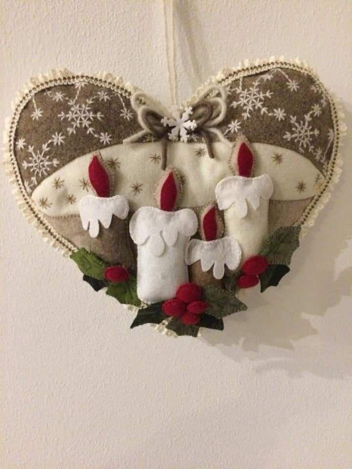 Regali Di Natale In Pannolenci.Natale Feltro Pannolenci Decori Natalizi Feltro Di