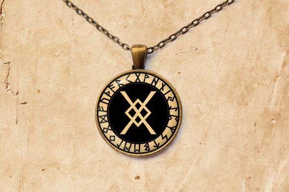 Occult pendant Odin's Spear jewelry Rune by SleepyCatPendants