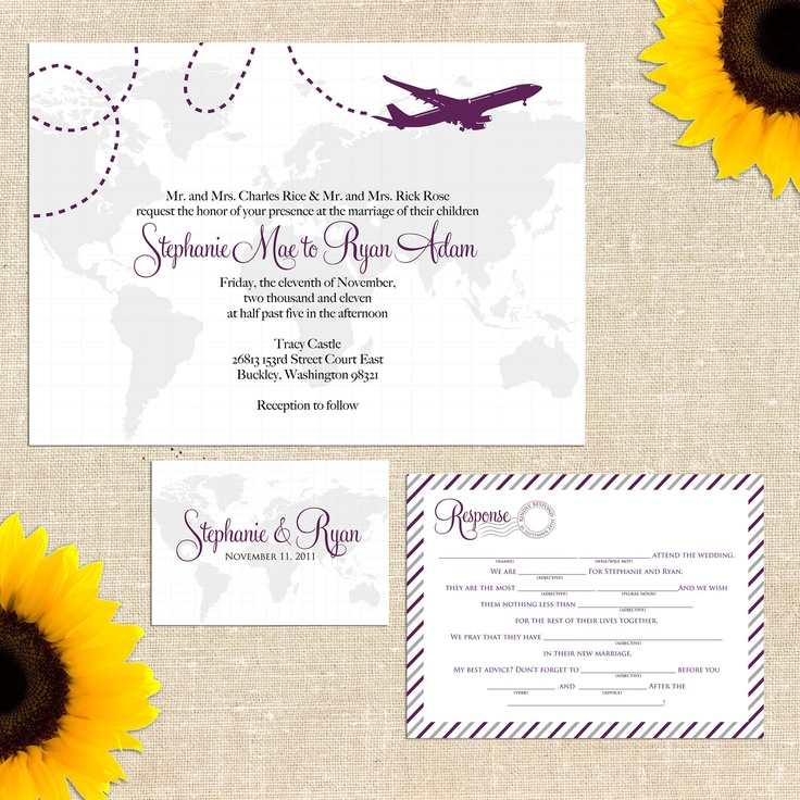 Items similar to Serena Wedding Invitation with
