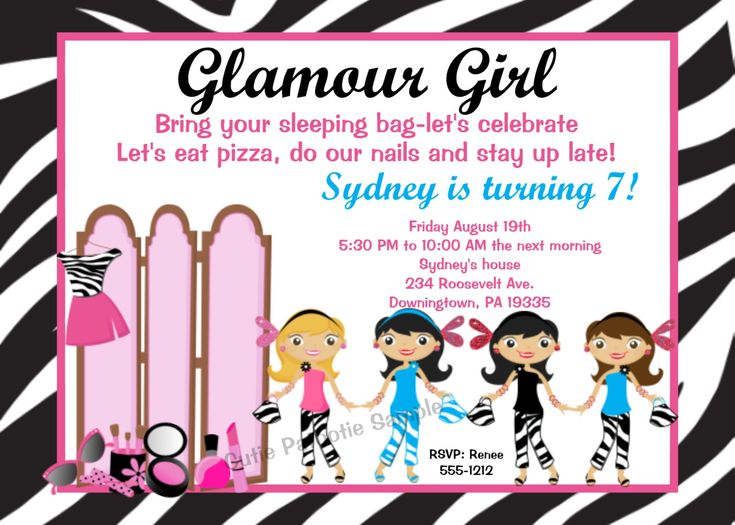The 25 best shopkins invitations template ideas on pinterest glam party for girls glamour girl birthday invitation glamour girl invitations printable or stopboris