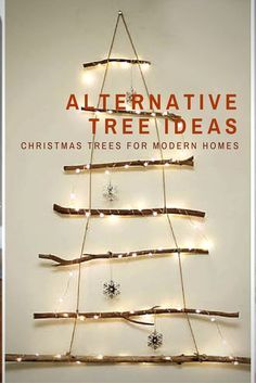 Alternative Christmas tree ideas for the modern home.