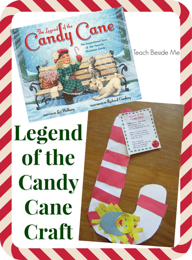 Legend of the candy cane craft from Teach Beside Me