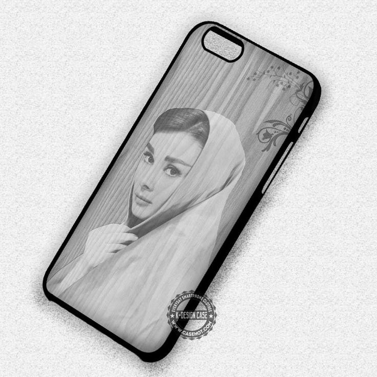 On Wood Retro Audrey Hepburn - iPhone 7 6 5 SE Cases & Covers