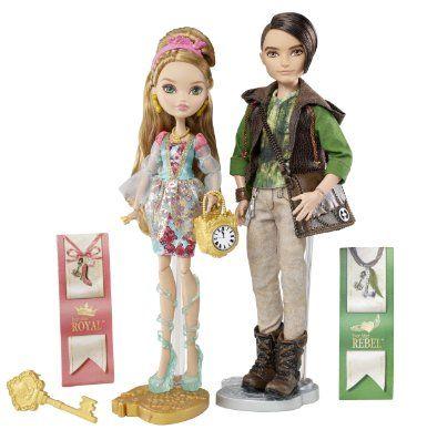 #5 - Ever After High Ashlynn Ella & Hunter Huntsman Doll, 2-Pack: Toys & Games