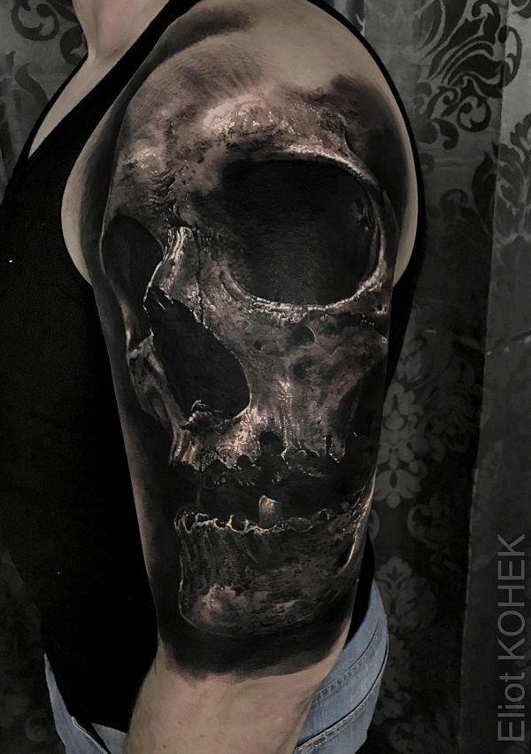 21e85d200 70+ Amazing 3D Tattoo Designs | Skull Tattoos | Tattoo designs ...
