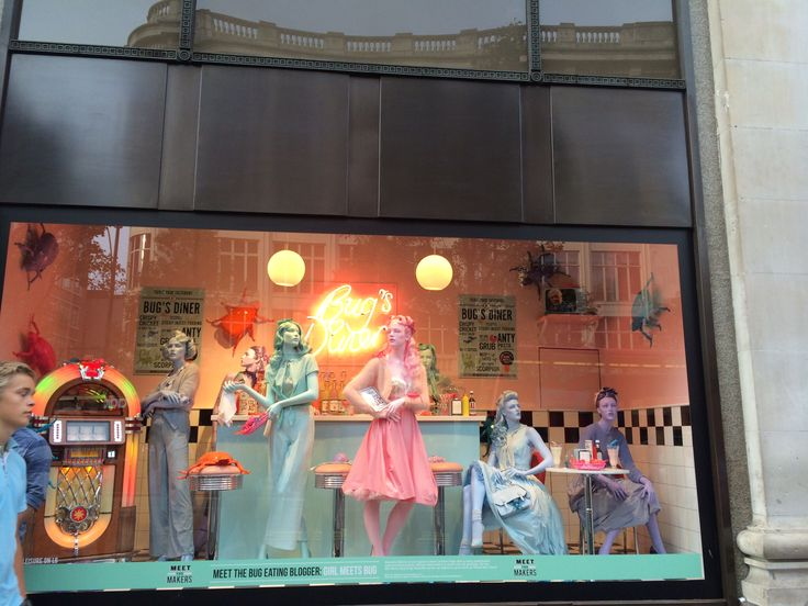 High street window shop